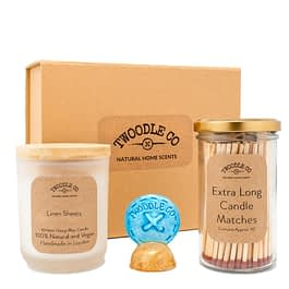 Linen Sheets Medium Gift hamper by Twoodle Co Natural Home Scents