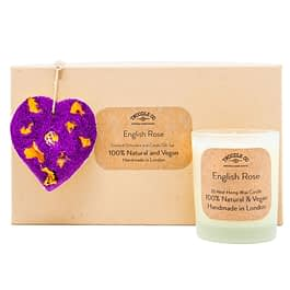 English Rose | Scented Ornament and Candle Gift Set | Purple