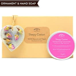 Sleepy Cotton Hand Soap and Ornament gift set Twoodle Co Natural Home Scents 2021