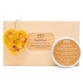 English Rose Scented Ornament and hand soap gold Gift Set by twoodle co natural home scents