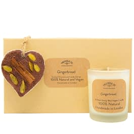 Gingerbread | Scented Ornament and Candle Gift Set
