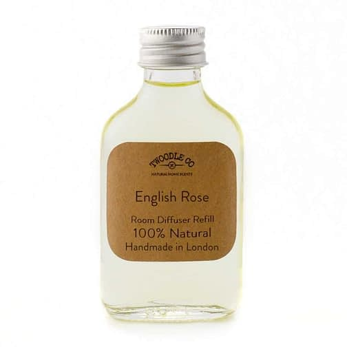 English Rose Essential Oil Room Diffuser Refill by Twoodle Co Natural Home Scents 2
