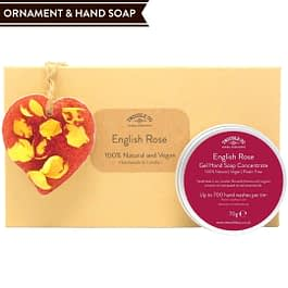 English Rose Hand Soap and Ornament gift set Twoodle Co Natural Home Scents 2021