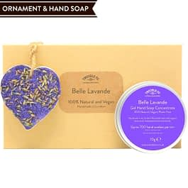 Belle Lavande Hand Soap and Ornament gift set Twoodle Co Natural Home Scents 2021
