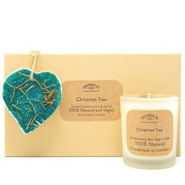 Christmas Tree | Scented Ornament and Candle Gift Set