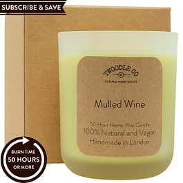 Mulled Wine Subscribe and Save natural 50 hour scented candle medium Twoodle Co Natural Home Scents