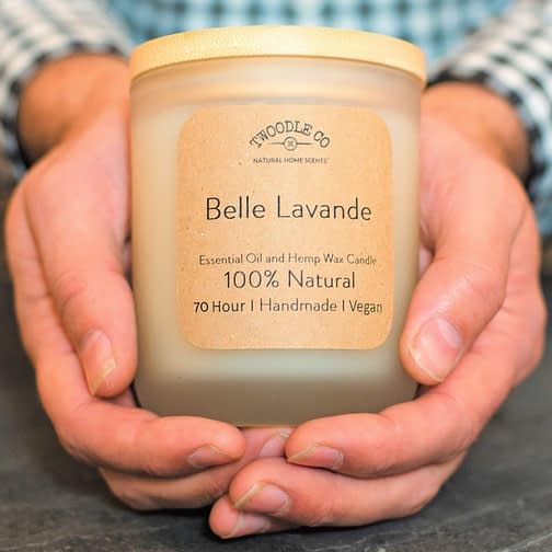 Large Scented Candles by twoodle co natural home scents