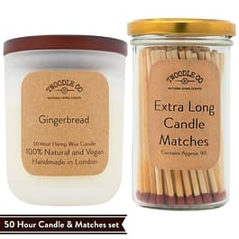 Gingerbread   Medium Scented Candle and Matches