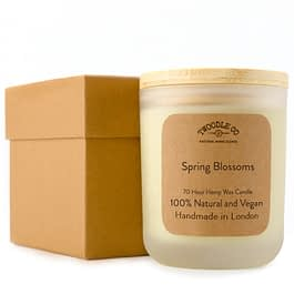 Spring Blossoms Large 70 Hour Scented Hemp Wax Candle by Twoodle Co Natural Home Scents
