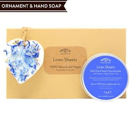 Linen Sheets | Hand Soap and Ornament Gift Set