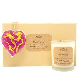 Floral Forest Scented Ornament and Candle Gift Set by twoodle co natural home scents