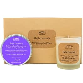 Belle Lavande | Hand Soap and Scented Candle Gift Set