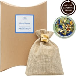 Linen Sheets Scented Pouch Twoodle Co Natural Home Scents