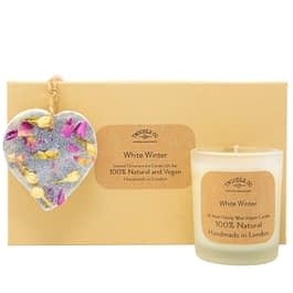 White Winter | Scented Ornament and Candle Gift Set