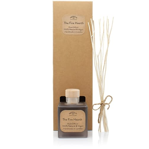 The Fire Hearth Plastic Free Natural Room Diffuser and gift box by Twoodle Co Natural Home Scents
