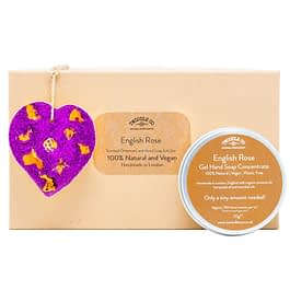 English Rose Scented Ornament and hand soap purple Gift Set by twoodle co natural home scents