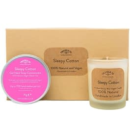 Sleepy Cotton | Hand Soap and Scented Candle Gift Set