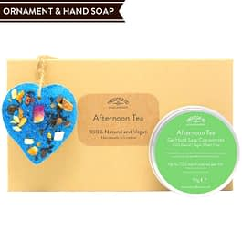 Afternoon Tea Hand Soap and Ornament gift set Twoodle Co Natural Home Scents 2021