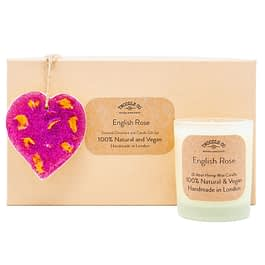 English Rose | Scented Ornament and Candle Gift Set | Pink