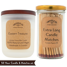 Eastern Treasure   Medium Scented Candle and Matches