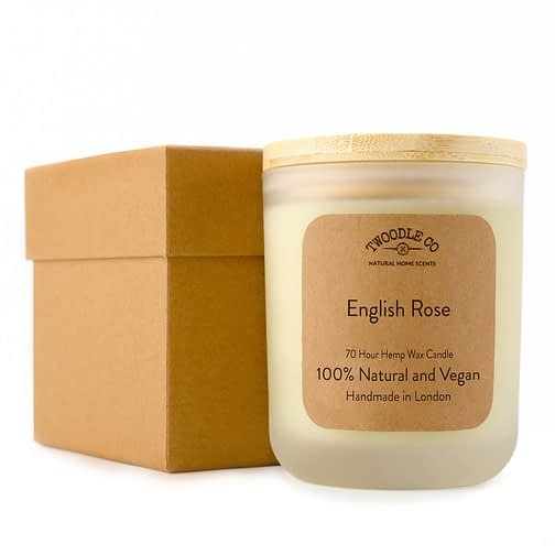 Twoodle Co Large Scented Candle English Rose