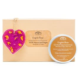 English Rose Scented Ornament and hand soap pink Gift Set by twoodle co natural home scents