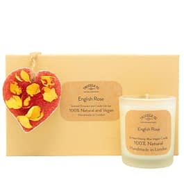 English Rose | Scented Ornament and Candle Gift Set