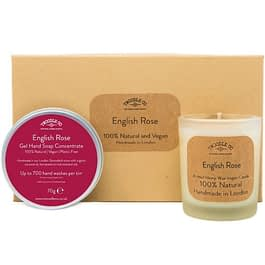 English Rose | Hand Soap and Scented Candle Gift Set