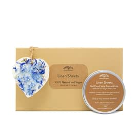 Linen Sheets Hand Soap and Scented Ornament Gift Set 100 Natural by Twoodle co