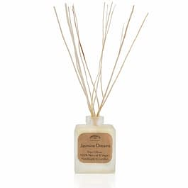 Jasmine Dreams Plastic Free Natural Room Diffuser by Twoodle Co Natural Home Scents