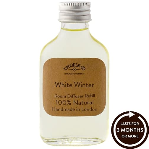 White Winter Essential Oil Room Diffuser Refill Twoodle Co Natural Home Scents