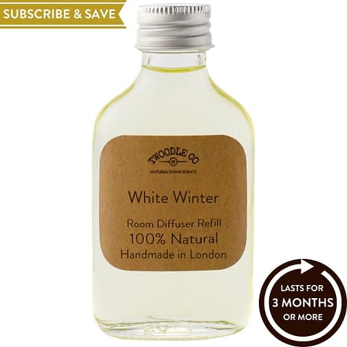 White Winter Subscribe and Save Essential Oil Room Diffuser Refill Twoodle Co Natural Home Scents