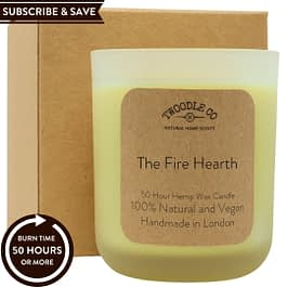 The Fire Hearth Subscribe and Save natural 50 hour scented candle medium Twoodle Co Natural Home Scents